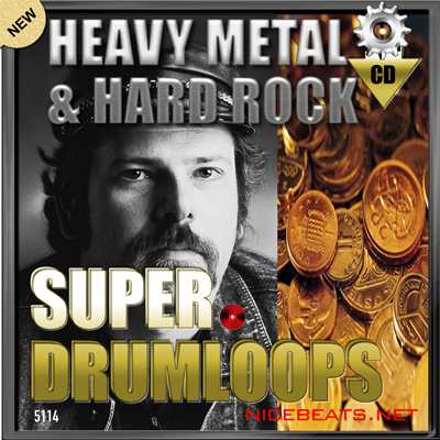 Product picture NiceBytes HEAVY METAL & HARD ROCK DrumLoops (AppleLoops for GarageBand | Logic)